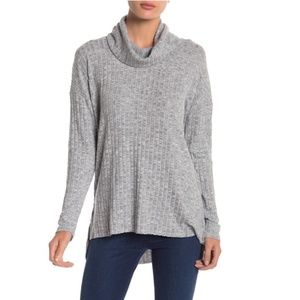 Abound Brushed Ribbed Tunic Sweater